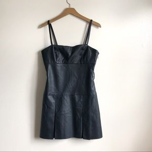 Free People Faux Leather mini dress NWOT